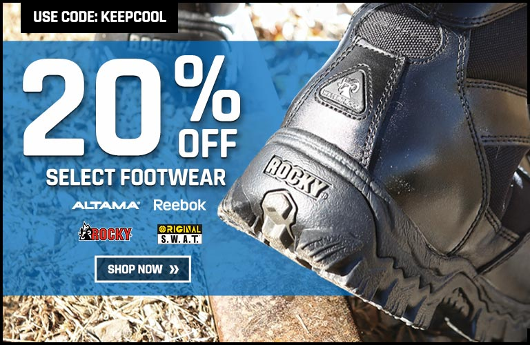20% off select footwear
